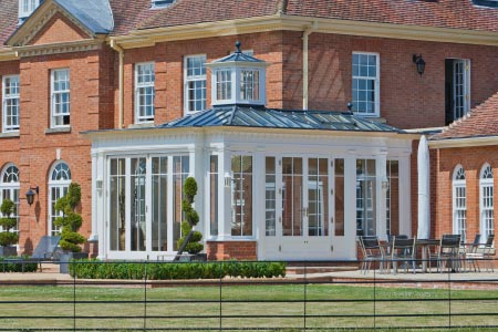Conservatory provides a link between a stunning Hampshire home and an entertainment facility