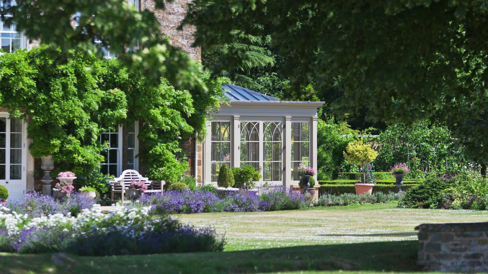 Bespoke Orangery in the perfect setting of an english garden