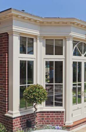 Conservatory With Clerestory Windows In London.