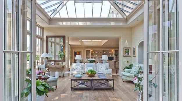 Conservatory Sitting Room with Glazed Roof.