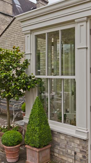 Fluted Pilasters With Sash Windows