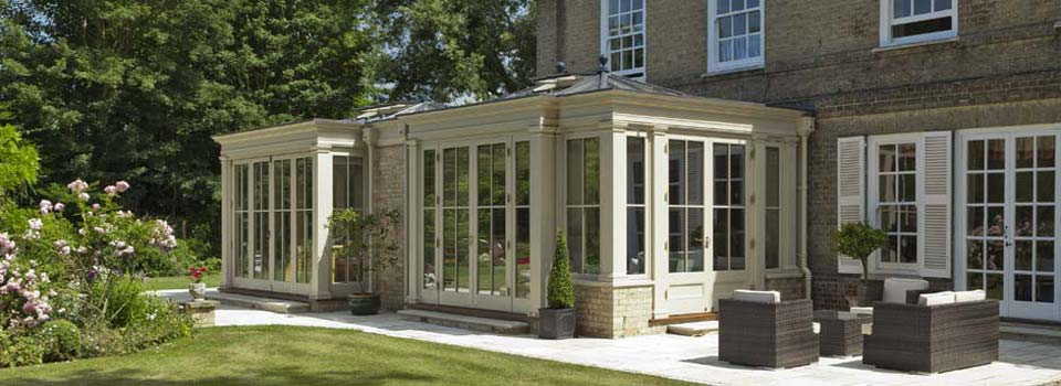 Bespoke Conservatory Extension With Full Length Panelling Located In Cambridgeshire.