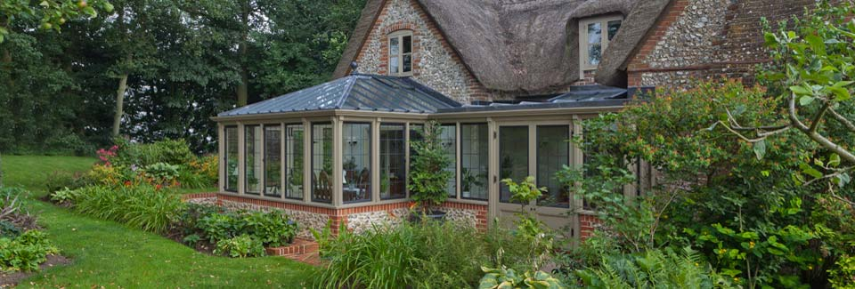 The Hardwick Conservatory From Our National Trust Collection Featuring Bronze Casements.