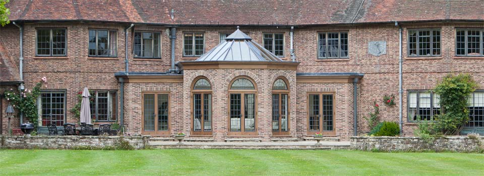 Orangery Featuring A Octagonal Glazed Roof In Easy Sussex.