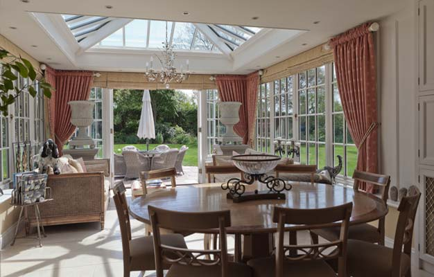 Traditional Conservatory With Double Doors In Jersey.