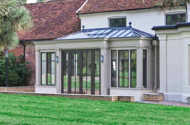Bespoke Orangery With Bronze Windows And Doors.