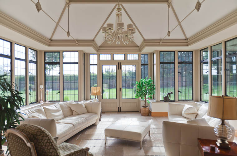 Gothic Style Conservatory With A Lead Roof For A