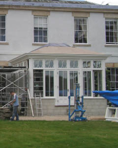 Georgian orangery installed on a Derbyshire home
