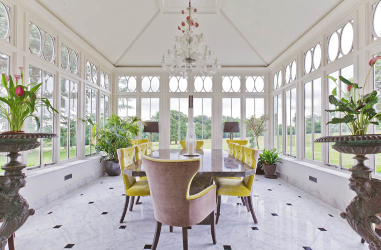 The Orangery Has Been Designed As A Spacious Dining Room