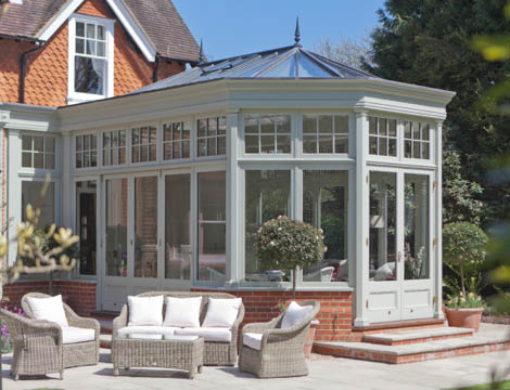 Edwardian Conservatory With Terrace And Outdoor Furniture