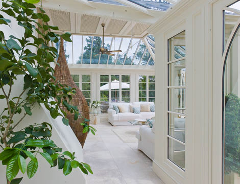 A Comfortable Living Space Is Created Inside The Conservatory