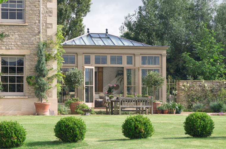 The Orangery Links Effortlessly To The Garden