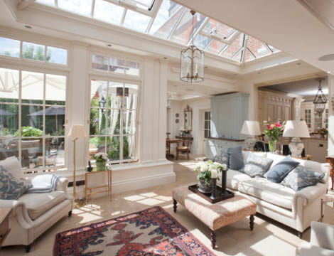 This Orangery Links The Kitchen To The Garden