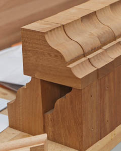 Timber mouldings are produced in various sizes depending on the project