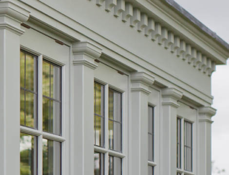 Dentil Moulding And Timber Columns Complete The Look