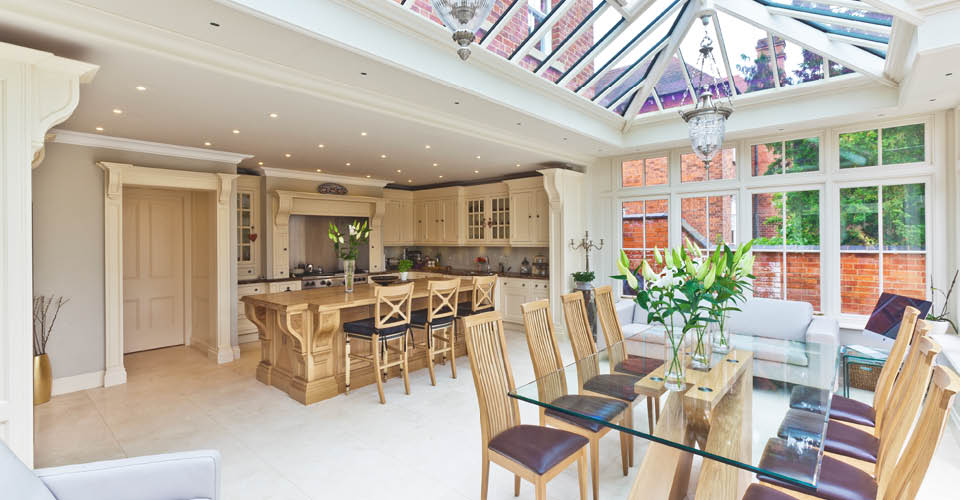 Open Plan Kitchen Conservatory Extends An Edwardian Warwickshire