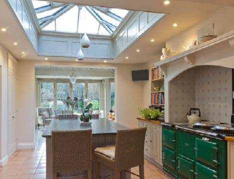Kitchen Orangery With Rooflight