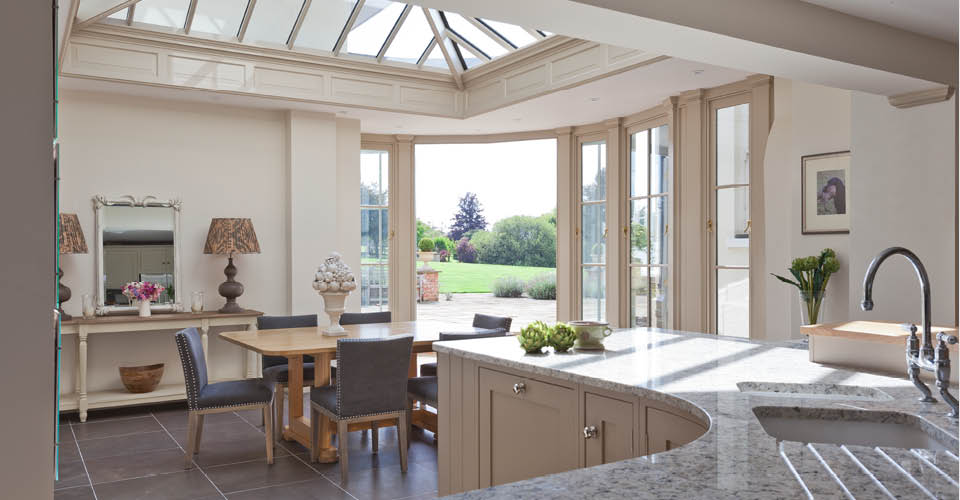Curved Kitchen Conservatory