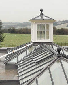 View of orangery roof lantern