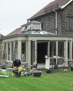 Conservatory With Architectural Bronze Detail On A North