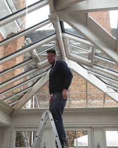 Conservatory being installed on site