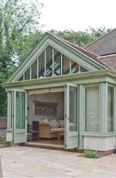 Tiled Roof Conservatory Folding Doors