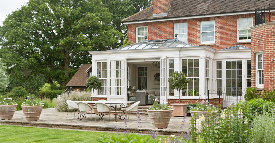 georgian orangery with matching glazing bars