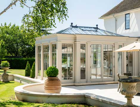 Orangery external with lead detailing