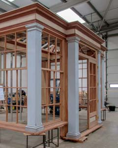 factory construction view of an orangery