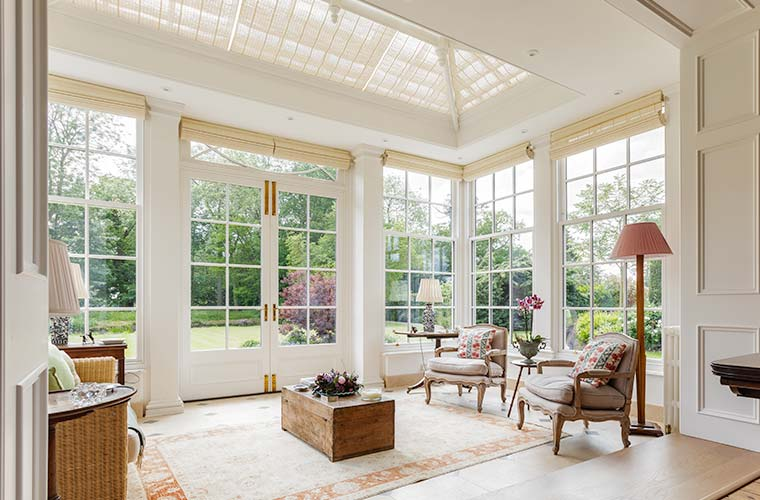 interior view of beautiful orangery extension