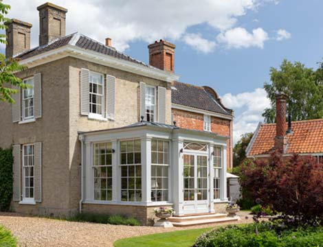 traditionally designed orangery