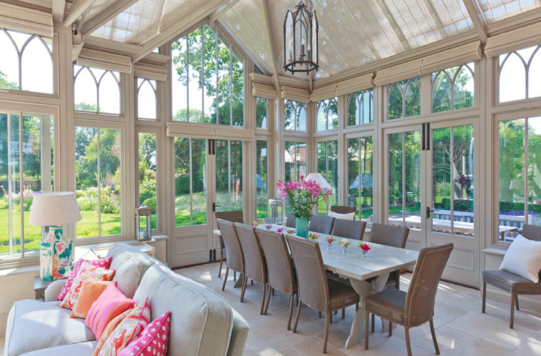 Large Victorian Conservatory Dining Room.