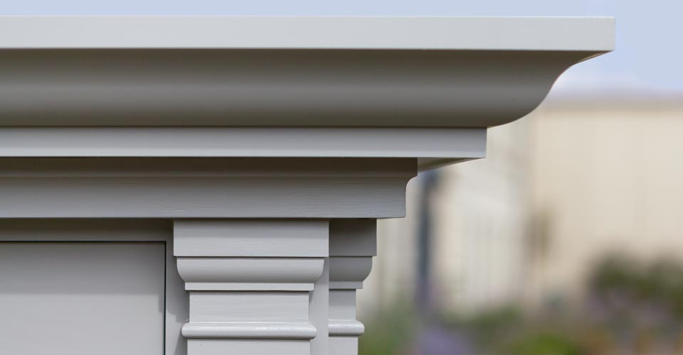 Close-up of classical pilasters on a Argory conservatory