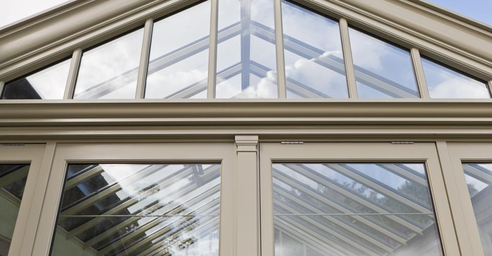 Top opening windows on a Argory conservatory
