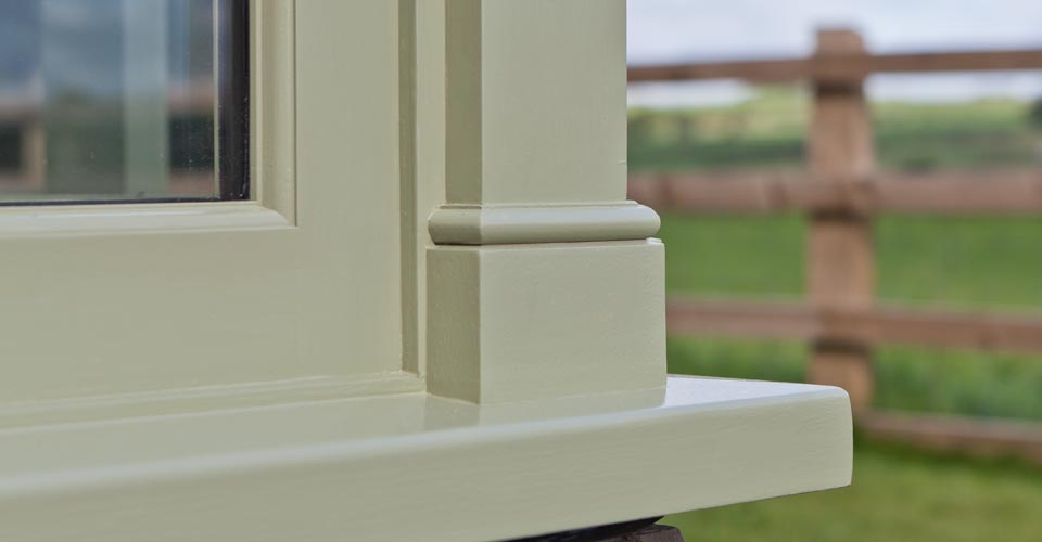 Decorative moldings on the outside of a Argory conservatory