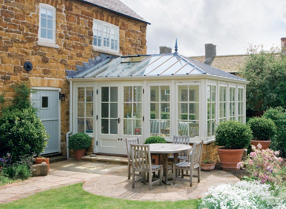 Beautiful example of a Cragside conservatory providing a great addition to the garden