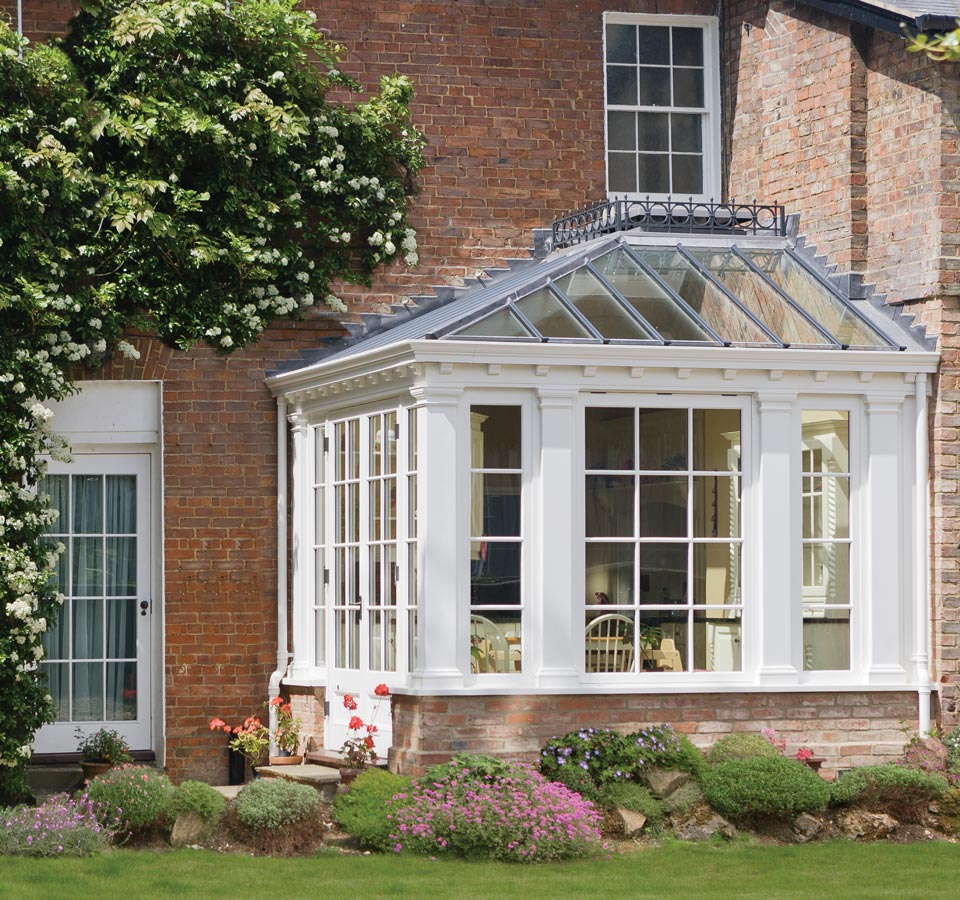 Small conservatory showing great use of a little corner space