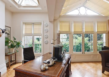 Home office conservatory in a London townhouse.