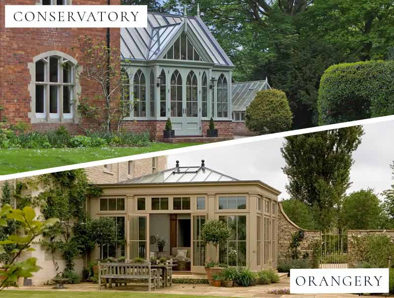 What's the difference between a conservatory and an orangery?