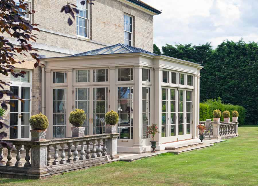 Example of Orangery with inset glazed roof