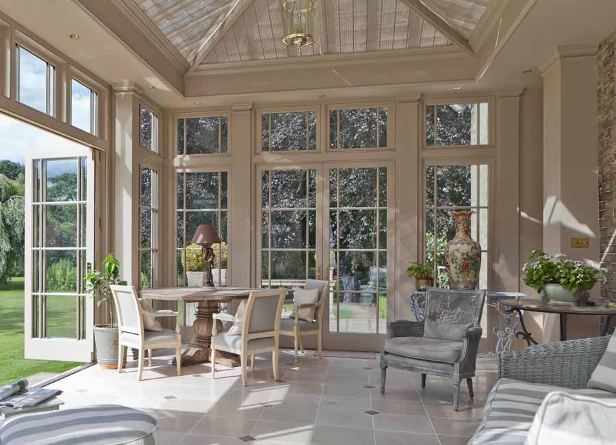 Example of an orangery interior