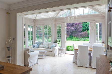 Classic conservatory in Warwickshire provides a relaxed and calming atmosphere