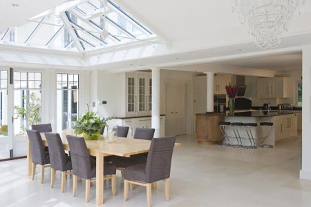 Orangery with bi-fold doors for a Buckinghamshire property