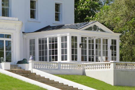 Conservatory on a stunning Georgian Country Home in Berkshire