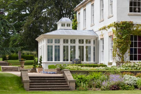 Georgian orangery complements a Derbyshire period home