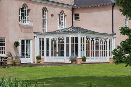 An Orangery in Surrey reflect the period details on the existing property