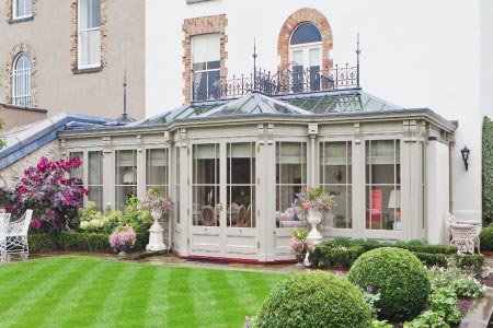 Decorative conservatory in Dublin, Ireland illustrates Vale's expertise in attention to detail