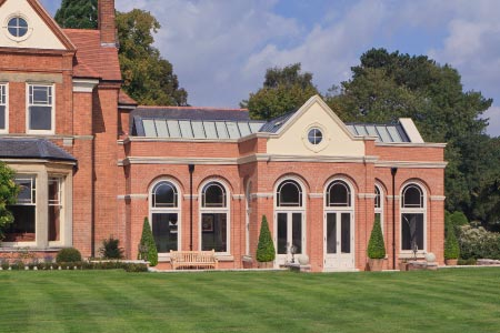 This distinguished orangery in Leicestershire has been designed to blend seamlessly with the house