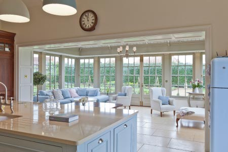 Orangery provides the finishing touch to a completely renovated Georgian rectory in Lincolnshire