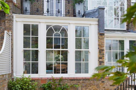 A Georgian conservatory provides valuable space on a London Townhouse
